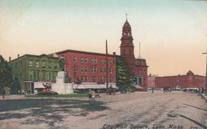 LYNN , Massachusetts, 1900-10s ; City Hall Square