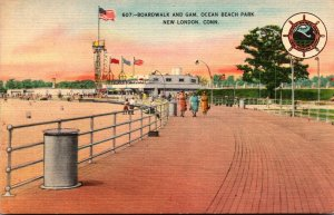 Connecticut New London Ocean Beach Park Boardwalk and Gam