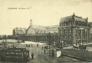 france, TOURCOING, Gare Ville, Railway Station (1910s) Postcard