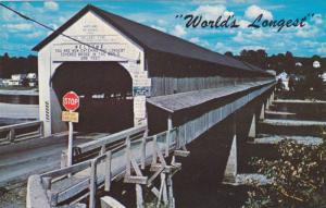 World's Longest covered Bridge, St. John´s River, Newfoundland, Canada, 40-60s