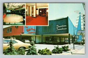 Dearborn MI- Michigan, Dearborn Town House Motel, Advertising, Chrome Postcard