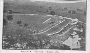F36/ Piketon Ohio Postcard c1910 Fair Grounds Race Track 3