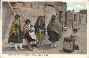 Native Indian Women Tesuque NM New Mexico c1920 Postcard