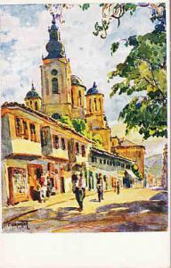 Sarajevo - Street Scene - T. Chvrakitch Artist  #1