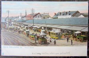 ANTIQUE 1906 UNDIVIDED POSTCARD NEW ORLEANS LA FRENCH MARKET