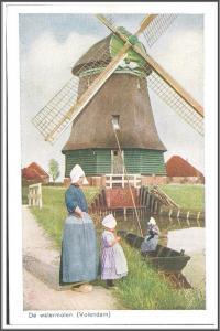 Netherlands Holland De Watermolen Postcard