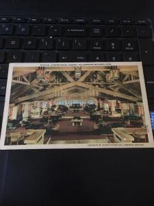 Vintage Postcard: Canton Hotel Lounge, Yellowstone National Park