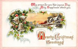 Christmas Post Card Old Vintage Antique Xmas Postcard 1913