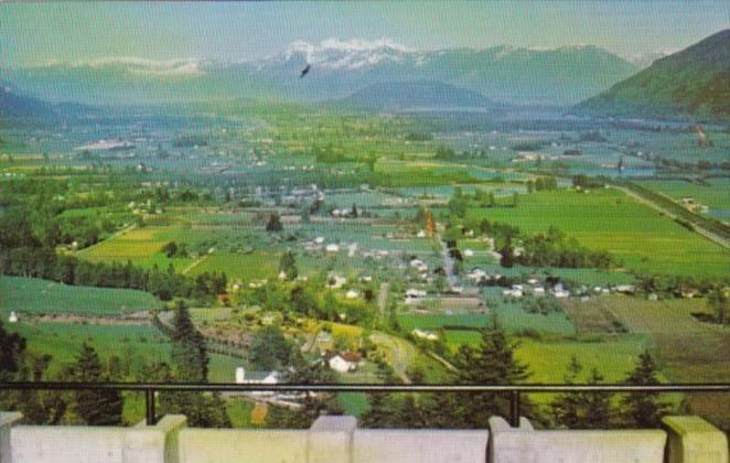 Canada Fraser Valley Seen From Westminster Abbey Mission British Columbia