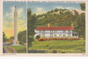 Tennessee Chattanooga Cravens House and Ohio Monument Lookout Mountain Battle...