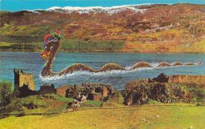 Loch Ness Monster at Castle Urquhart, Inverness, Scotland, United Kingdom, 40...