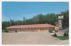 US Center Motel Smith Center Kansas 1959 postcard