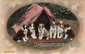 Camping Out  Postcard Post Card  Camping Out
