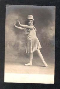 026187 TOP HAT Girl BALLET Star DANCER Vintage PHOTO