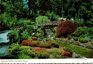 Oregon Portland Japanese Gardens The Moon Bridge