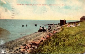Rhode Island Conancut Bathing Beach Seaside Cottage 1912