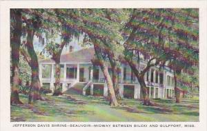 Mississippi Gulfport Jefferson Davis Shrine Beauvoir Midway Between Biloxi An...