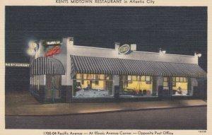 ATLANTIC CITY , New Jersey, 1930-40s; Kent's Midtown Restaurant