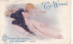 To Woman, Mother and child, O fairest of creation last and best!, PU-1908