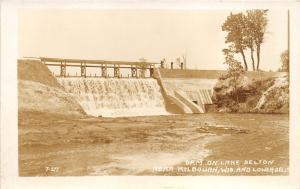Kilbourn Wisconsin-Lower Dells~Dam on Lake Delton~Bridge Across~1920s RPPC