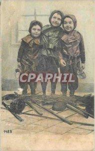 Postcard Old Children Chimney Sweeps