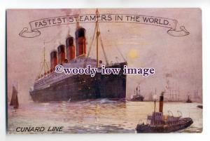 LS0106 - Cunard Liner - Aquitania ?  - Poster Advert postcard