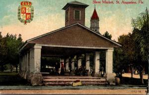 Florida St Augustine Old Slave Market 1912