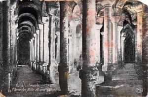 Turkey Old Vintage Antique Post Card Citerne des Mille et une colonnes Consta...