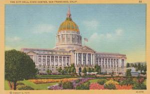 San Francisco CA, California - The City Hall at the Civic Center - Linen