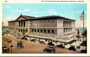 Illinois Chicago Art Institute and Ferguson Fountain