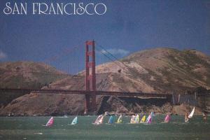 California San Francisco Windsurfing On The Bay