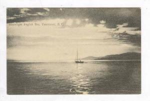 Sailboat, Moonlight, English Bay, Vamcouver, B.C., Canada, 00-10s