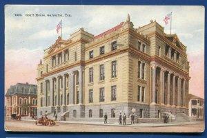 Galveston Texas tx County Court House old postcard