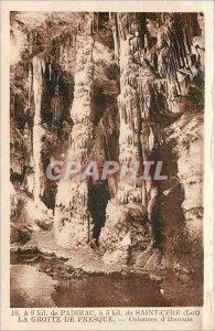 Postcard Old Cave Almost 9 kil Padirac 5 kil Saint Cere (Lot) Pillars of Herc...
