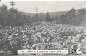Glacial Deposit Of Blue Rock Near Lenhartsville Pennsylvania Vintage Postcard