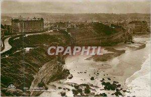 Modern Postcard Biarritz views Cliffs Lighthouse