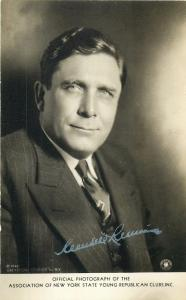New York Republican President Candidate Wendell Willkie signature campaign RPPC