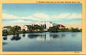 Vtg 1940s Henlopen Hotel from Du Pont Lake Rehoboth Beach Delaware DE Postcard