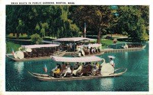 USA Swan Boats In Public Gardens Boston Massachusetts 06.54