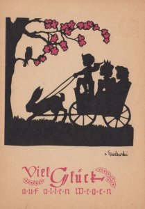 Silhouette ; Rabbit Pulled Cart , 20-30s