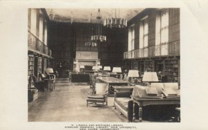 RP: NEW HAVEN, Connecticut, 1910s-30s ; YALE Library Interior #5
