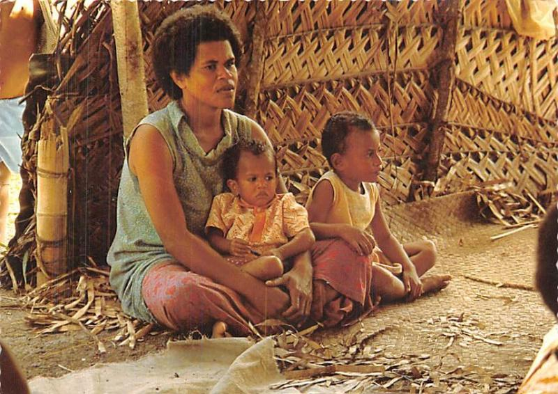 Fiji Fijian Mother and Children  Fijian Mother and Children
