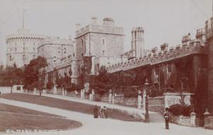 Military Knights Antique Sentry On Guard at Windsor Castle Real Photo Postcard