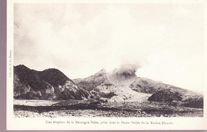Mt. Pelee Eruption in Haute Vallee de la Rurere Blanche