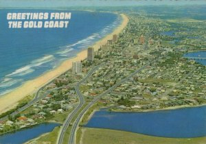 Australia Postcard - Aerial View of Surfers Paradise and The Gold Coast RR9547