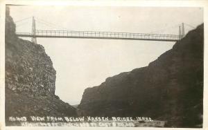 RPPC Postcard; W.Andrews No.403, Hansen High Bridge ID Snake River Canyon Hwy 50