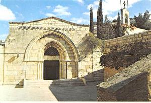 Israel Old Vintage Antique Post Card Tomb of the Virgin Jerusalem Unused