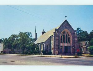Unused Pre-1980 CHURCH SCENE Rehoboth Beach Delaware DE p3805@