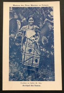 Mint Samoa RPPC Real Picture Postcard Marist fathers Mission Native Girl