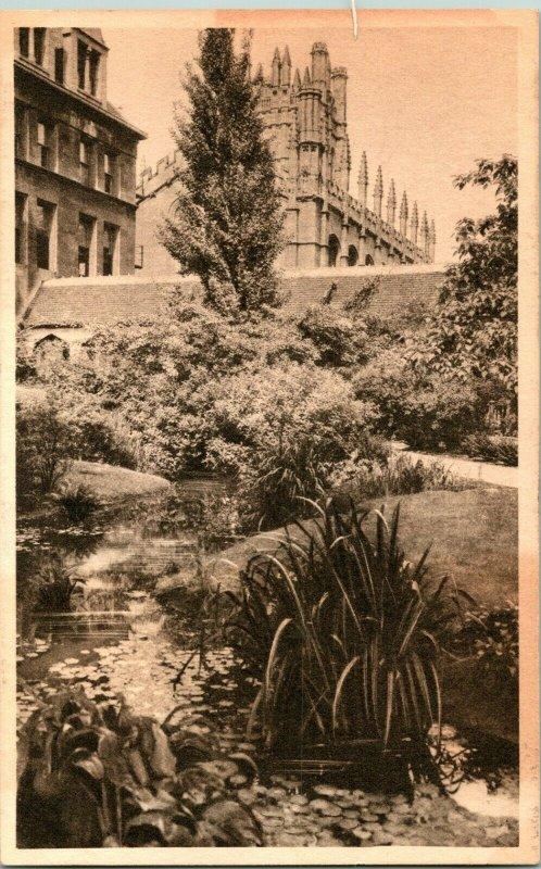 Vtg Postcard 1910s Mitchell Tower From Botany Pond University of Chicago Unused